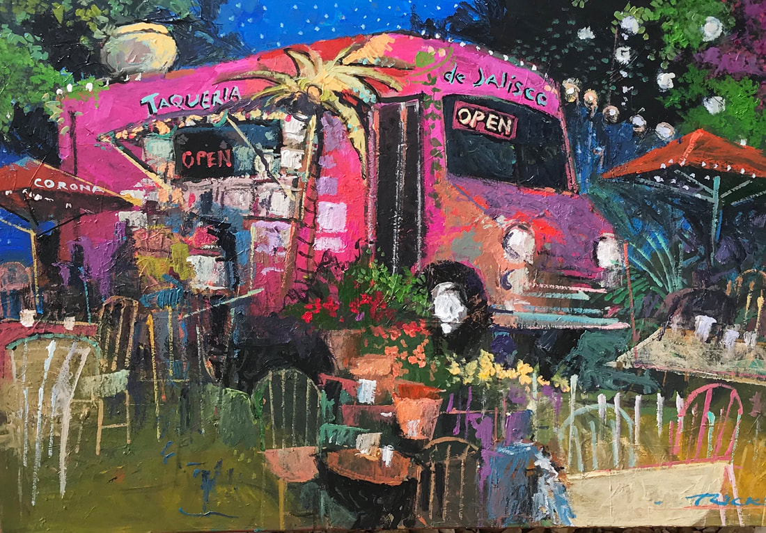 austin, austin art, food trucks austin, paintings of austin, texas art, images of austin